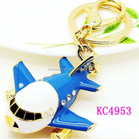 2014 New Creative Gifts Small Enamel Plane Keyring Military Unmanned Mini Aircraft Keychain