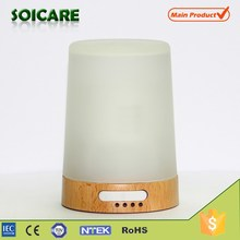 150ml Portable Household Real glass + wood base Water Therapy Ultrasonic air humidifier with Humidifier