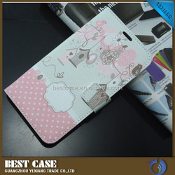 high quality flip stand case for huawei ascend g750 leather case with card solt