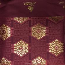 Nice wine red and gold African jubilee headwear bandanas , small gele headtie for women