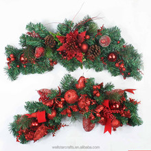 wholesale artificial imported christmas wreaths ornaments, decoration in christmas