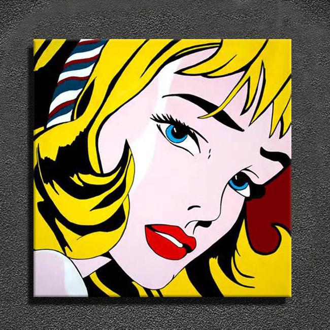 Modern Pop Art Style Apartment: Design Moderne Peint à La Main Célèbre Pop Art Peintures