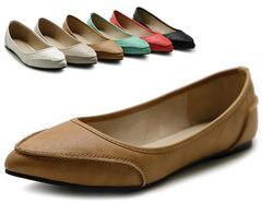 Lady dress pump shoes fashion footwear flat stitching flat shoe
