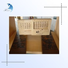 chinese style top brand luxury handcrafted wooden decoration minicalendar