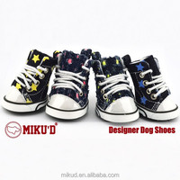 2015 Fashion New Style 100% Cotton Denim Dog Cat Shoes, Shoes Buddy Dog, Puppy Boots Spotty Pattern Pet Shoes Smsll protective
