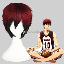 High Quality 35cm Short Straight Kuroko No Basketball Red&Black Synthetic Anime Wig Cosplay Costume Hair Wig Party Wig