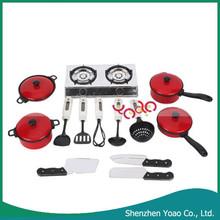 Venta al por mayor los niños juegan juguetes casa cocina utensilios de cocina conjunto de juguete