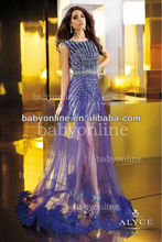 BO2391 Wholesale New Fashion Beadings Short Inside Long Outside Prom Dress Hot Style 2013