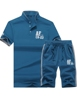 custom man fitness sportswear Summer Stylish Short Sleeves Cotton Custom Men's Tracksuits