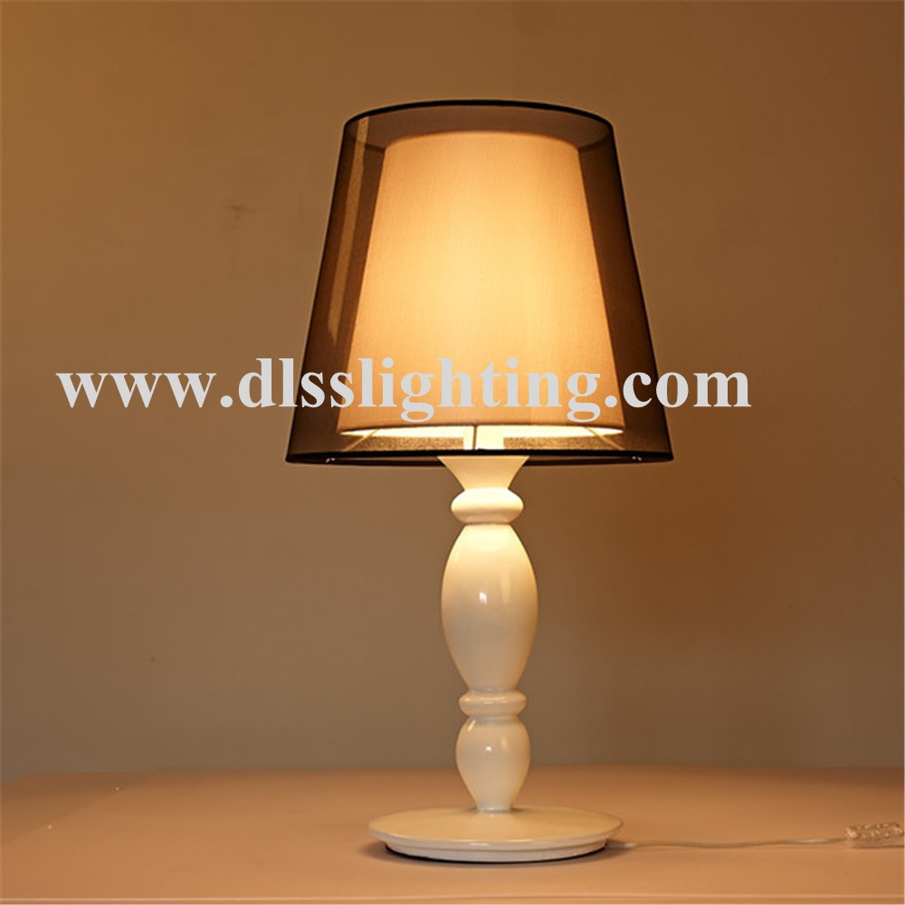 Promotion living room table lamp with farbic lamp shade for Living room table lamps