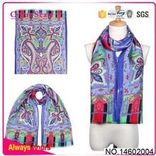 Modern Silk Wadding Scarf Shawl