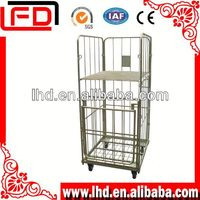 Foldable Fruit storage roll cages used for supermarket transport