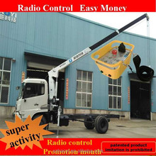 4 ton mini electric hydraulic crane truck lorry crane loader crane dumper for sale with radio control