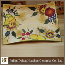 2015 new design hot high quality italian ceramic dish