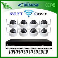 8CH Wireless NVR Kit,web toy camera,720p onvif 2.0 ip camera
