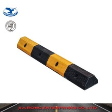 Lower Factoty Price 1000*160*100mm Standard Car parking black & yellow recycled rubber wheel stopper for vehicle