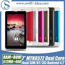 """Cheap 3G tablet ! China MTK6572 dual core dual sim phone call 7"""" android tablet"""