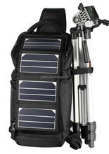 Best selling solar camera bag with 6.5W sunpower charger for charging moblie