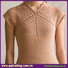 Pretty christmas warm latest autumn flag knit classical v neck garment
