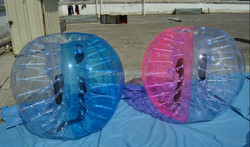 super colorful foot ball, bubble football suit, human bubble ball for football