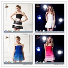 hot sale strapless sexy fat women Bandage dresses pictures fashion 2015