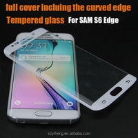 New products 9H 0.33mm toughen screen protector for samsung galaxy s6 edge tempered glass guard