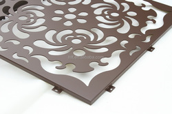 decorative CNC cutting panel curtain,lightweight construction material