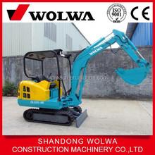 small mini 1.6 ton weight rubber crawler excavator