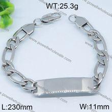 Plain design poker bracelet stainless steel