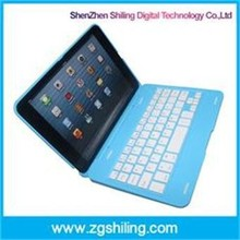 Ultra-Slim Aluminum Wireless Bluetooth Keyboard Smart Cover Case For iPad Mini