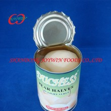 Cheap price Canned snow pear halves in light syrup, private label china canned food supplier