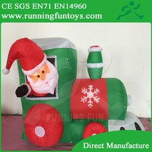 Inflatable Christmas decoration Santa claus driving on train ICL005