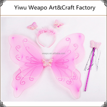 Hot sale cheap halloween carnival accessories butterfly fairy wings for girls for promotion BW-353
