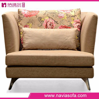 2015 Low price foshan new design comfortable bedroom furniture fabric single soft sofa