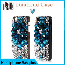 Fashion design luxury full diamond phone case for iphone 6 6 plus, factory price diamond phone case for iphone 6