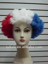 Fashion soccer &football fun wig for 2012 European championship for France