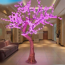nice looking outdoor led resin pink cherry tree