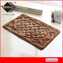 Flower 100% Polyester Anti-slip Memory Foam China Bath Mat/Bath rug