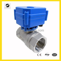 DC12 work Voltage 2-way motorized shut off valve for Water equipment,auto-control water system