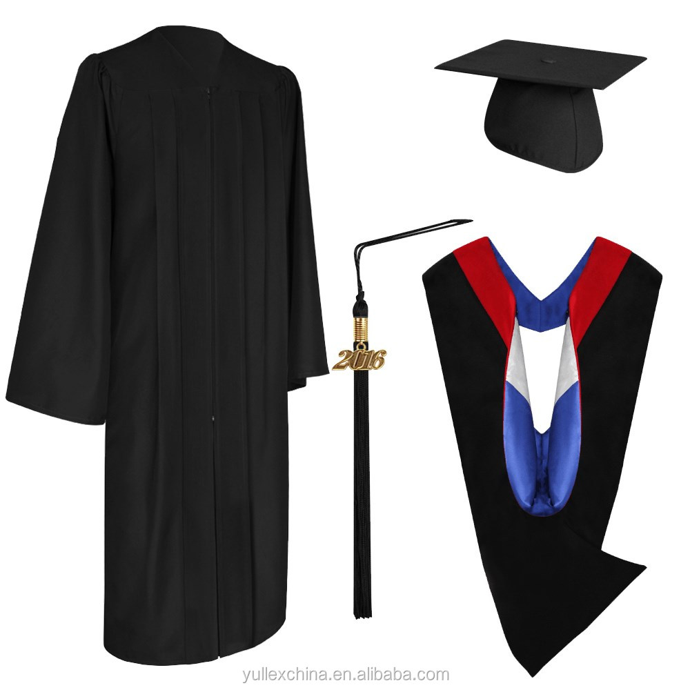 Eco-friendly Black Bachelor Graduation Cap,Gown,Tassel & Hood - Buy ...