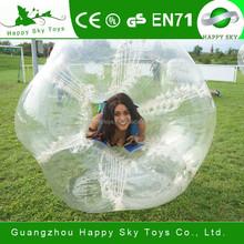 Top selling balls! high quqality PVC, TPU crazing funny bumper ball ,hot sale soccer bubble,inflatable bumper ball