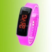 R0804 2015 fashion waterproof Touch Digital Jelly Silicone Bracelet LED Sports Wrist Watch