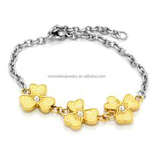 Bracelets and Bangles Women Leaf Clover 14K Gold Plating Jewelry Imported Bracelets China