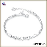 Wholesale Alibaba Heart And Wing Shape Beaded Chain Bracelet For Pretty Girls