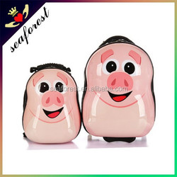 pink pig design kids cute luggage,ABS luggage for children,cartoon luggage