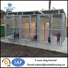 5'*10'*6'*3 runs dog kennel with fight guard divider