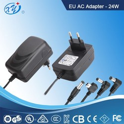 24W AC adapter with European plug TUV GS CE approval