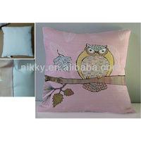 Homewares chair cushion with owl design