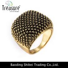 2015 Elegant artificial Gold dot alloy ring rhinestone ring design for women wholesale