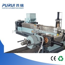 Side forced feeder plastic granulating line to recycle plastic